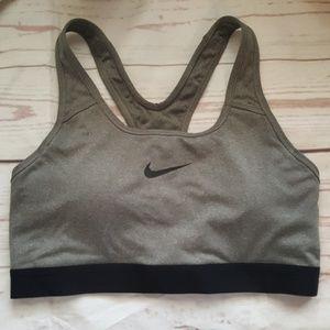 Nike Dri Fit Sports Bra Size Medium Gray